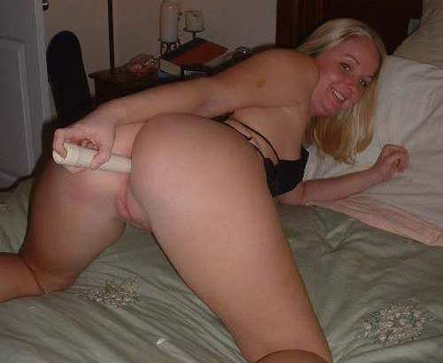 Girl using dildo